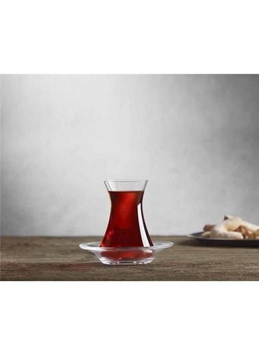 Paşabahçe Nude Beykoz 6'lı Çay Seti Renkli